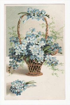 Vintage Postcard-Basket by Carol Anne's Boutique, via Flickr