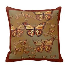 Chocolate Butterfly  Dreams Pillow by Sharles