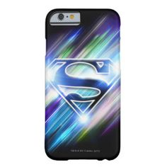 Shiny Blue Burst Superman Logo Barely There iPhone 6 Case
