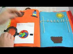 Libro interattivo / sensoriale. Quiet book. Per Giovanni - YouTube