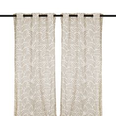 Taupe Madeline Curtain Panel Set, 108 in.