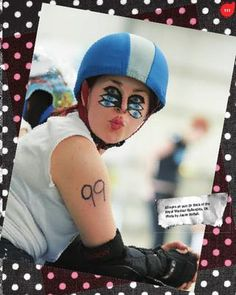 Roller derby war paint look, from Flat Track Fashion