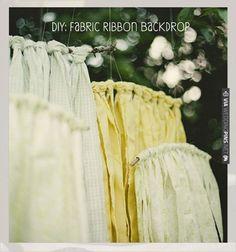diy fabric ribbon backdrop | CHECK OUT MORE IDEAS AT WEDDINGPINS.NET | #diyweddings