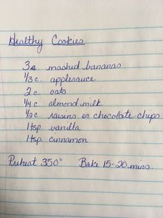 Easy Healthy Cookies 'E' Ww Recipes, Diabetic Recipes, Baking Recipes, Whole Food Recipes, Cookie Recipes, Recipies, Gluten Free Desserts, Vegan Desserts, Gluten Free Recipes