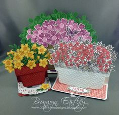 addINKtive designs: A Trio of Flower Pot Easel Cards