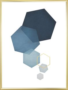 Blue hexagon, posters