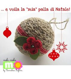 Tutorial for a Christmas ornament made of twine by Vannalisa Scafaria-Creative Lab.