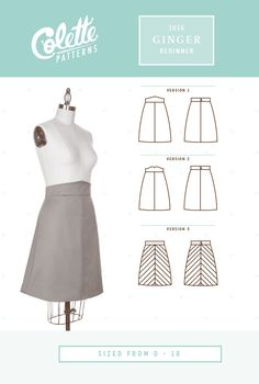 This simple and pretty a-line skirt with high waistband will be a new wardrobe staple. Quick to sew, flattering to wear, and complete with excellent step-by-step instructions, this beautiful skirt is