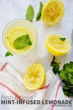 Mint-Infused Lemonade Recipe - Thrifty Jinxy