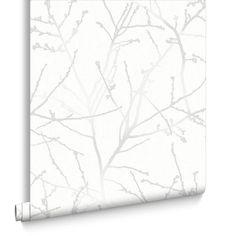 Innocence White Mica Wallpaper