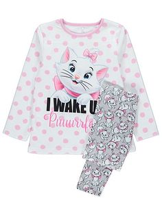 The best way to wake up purr-fect, is for your little Disney darling to get a cat nap in these lovely pyjamas. The spotted top has a fleece texture soft enou...