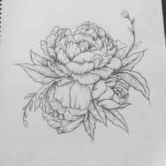 Peony tattoo. Contact me for custom drawings clairestokes93@yahoo.com Or check out my Instagram clairestokes25