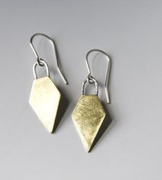 Brass & Silver Arrow Earrings