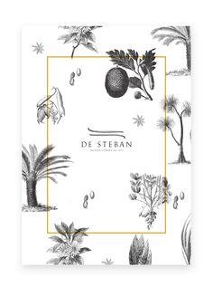 Black and White Illustration Design - De Steban - Delicatessen (WIP) by Antoine Pilette, via Behance Poster Design, Graphic Design Layouts, Graphic Design Typography, Graphic Design Posters, Graphic Design Illustration, Graphic Design Inspiration, Layout Design, Design Art, Web Design