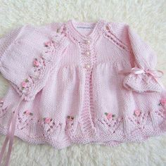 Hand Knit Cotton Baby Set