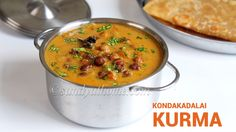 Kondakadalai kurma, Black channa kurma recipe