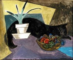 Dorothy Lake Gregory Cat   oil on board,