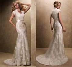 Modest Wedding Dress with Sleeves Vintage V Neck Vestidos De Novia Tulle Lace Bridal Gowns Long Robe De Mariage Zipper Back-10