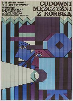 1979 Polish poster for THOSE WONDERFUL MOVIE CRANKS(Jiri Menzel, Czechoslovakia, 1979)  Designer: Andrzej Krajewski
