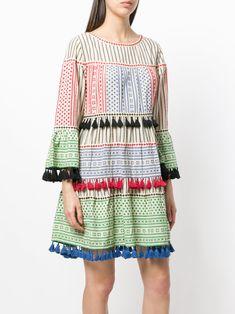 Dodo Bar Or Printed Loose Flared Dress - Farfetch Flare Dress, Bar, Printed, Cotton, Stuff To Buy, Shopping, Dresses, Women, Fashion