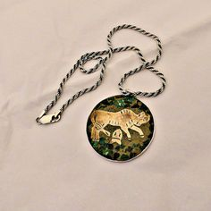 Sterling Silver Mexico Mixed Metal and Inlay by SilverFoxAntiques