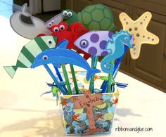 Sea Creature Pencil Toppers great Teacher Gift for any Ocean Theme Classroom