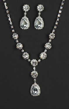 Deb Shops dropped oval stone #jewelry set #prom