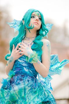 Me as Watery from Card Captor Sakura This wonderful picture was taken by the great during the freezing cold Animuc. Thank you. <3 The make up was done by *wanasabi and *Naraku-Sippschaft . Thank...