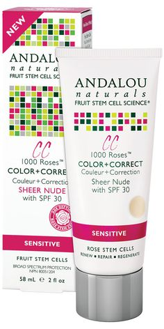 Andalou Naturals 1000 Roses™ CC Color + Correct Sensitive Sheer Nude | $15 (Highest reviewed CC cream for Andalou Naturals. Not full coverage, but a great tint for SPF 30. Most say they love.)