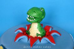 surprise! T-Rex cake Toy Story - Lucy would love this!