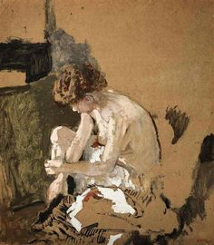 Vuillard, Edouard (French, 1868-1940) - Model taking off her Stockings - s. d. (by *Huismus)