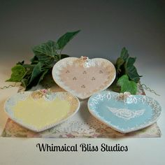 Whimsical Bliss Studios - Occasional Heart Plates