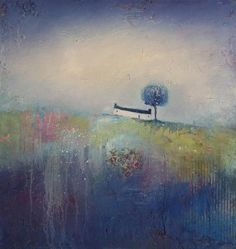 Limited Edition Giclee Print By Northeast Artist - Lisa House Mount included. Colorful Artwork, Wallpaper Backgrounds, Landscape Paintings, Giclee Print, Indigo, Abstract Art, Palette, Greeting Cards, Artsy