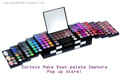 Make down: Sorteio Make Down Paleta Sephora Pop up Store