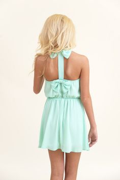Here We Bow Again Dress-Mint