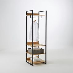 Image Hiba Solid Pine Unit with Clothes Rail and 3 Shelves La Redoute Interieurs