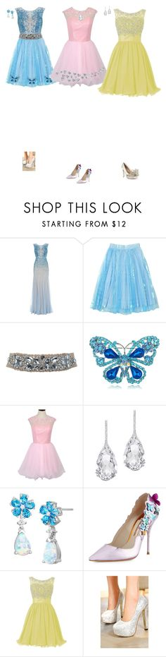"""Dressing eap"" by cynthiatorres-ii ❤ liked on Polyvore featuring Adrianna Papell, Miss Selfridge, Plukka, Sophia Webster, Valentino and WithChic"