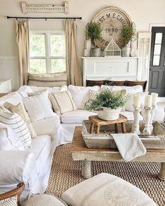 Cool 43 Amazing Rustic Farmhouse Living Room Design Ideas.