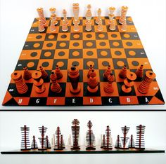 Unique Chess Pieces | set with unique chess pieces made out of cardboard link