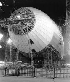 Construction of the USS Macon Airship