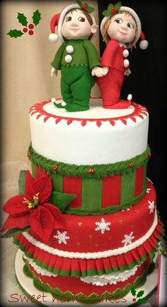 Christmas cake for Christmas table