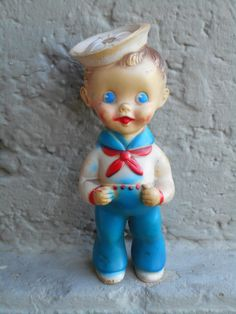 Sun Rubber Sailor squeak toy by Vintagetoyfun on Etsy