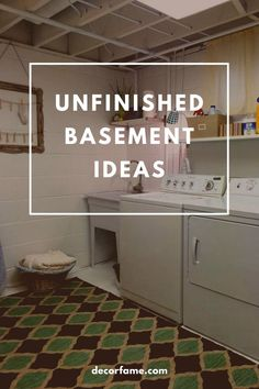 13 Unfinished Basement Ideas to Increase Your Home Value – Decorfame – Basement İdeas 2020 Unfinished Basement Playroom, Basement Ideas, Unfinished Basements, Open Shelving Units, Cinder Block Walls, Small Bars, Gym Room, Basement Makeover, Poured Concrete