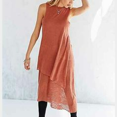 Nwot.URBAN OUTFITTERS DRESS Beautiful Burnt Orange long tank dress. Never worn. NWOT. Urban Outfitters Dresses Maxi