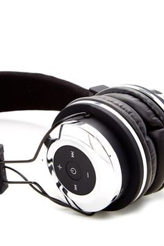 Bluetooth Stereo Metallic Silver Headphones