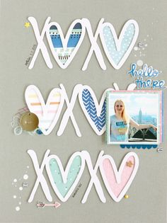 XOXO | Scrapbooking Layout