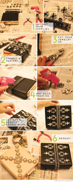DIY Tutorial: Jeweled Holiday Clutch