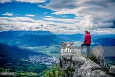 Mature man hiking in the mountains, Julian Alps, Europe. Man... #ajdovscina: Mature man hiking in the mountains, Julian Alps,… #ajdovscina