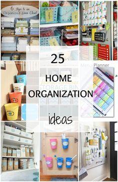 Home Organization Ideas via A Blissful Nest - 25 Best organization ideas for your home.