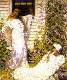 """Sun Bath,"" Philip Leslie Hale, 1914, Oil on canvas, 36.13 x 30.13"", Chrysler Museum of Art."